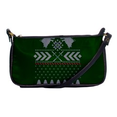 Winter Is Coming Game Of Thrones Ugly Christmas Green Background Shoulder Clutch Bags