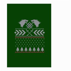 Winter Is Coming Game Of Thrones Ugly Christmas Green Background Small Garden Flag (two Sides)