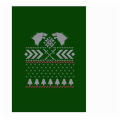 Winter Is Coming Game Of Thrones Ugly Christmas Green Background Large Garden Flag (two Sides)