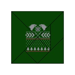 Winter Is Coming Game Of Thrones Ugly Christmas Green Background Acrylic Tangram Puzzle (4  X 4 )