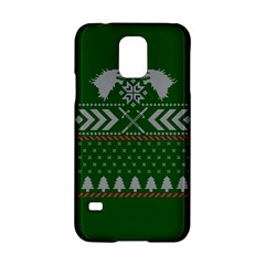 Winter Is Coming Game Of Thrones Ugly Christmas Green Background Samsung Galaxy S5 Hardshell Case