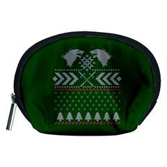Winter Is Coming Game Of Thrones Ugly Christmas Green Background Accessory Pouches (medium)