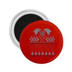 Winter Is Coming Game Of Thrones Ugly Christmas Red Background 2 25  Magnets