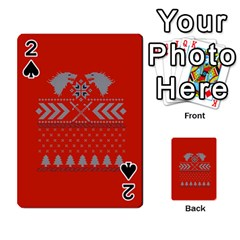 Winter Is Coming Game Of Thrones Ugly Christmas Red Background Playing Cards 54 Designs