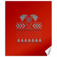 Winter Is Coming Game Of Thrones Ugly Christmas Red Background Canvas 20  X 24