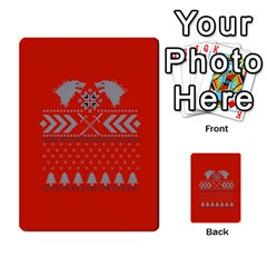 Winter Is Coming Game Of Thrones Ugly Christmas Red Background Multi Purpose Cards (rectangle)