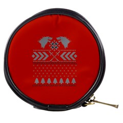Winter Is Coming Game Of Thrones Ugly Christmas Red Background Mini Makeup Bags