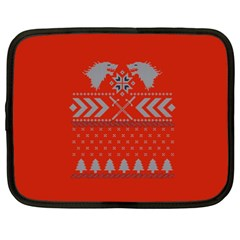 Winter Is Coming Game Of Thrones Ugly Christmas Red Background Netbook Case (xxl)