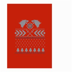 Winter Is Coming Game Of Thrones Ugly Christmas Red Background Small Garden Flag (two Sides)