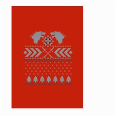 Winter Is Coming Game Of Thrones Ugly Christmas Red Background Large Garden Flag (two Sides)