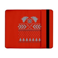 Winter Is Coming Game Of Thrones Ugly Christmas Red Background Samsung Galaxy Tab Pro 8 4  Flip Case