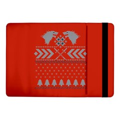 Winter Is Coming Game Of Thrones Ugly Christmas Red Background Samsung Galaxy Tab Pro 10 1  Flip Case