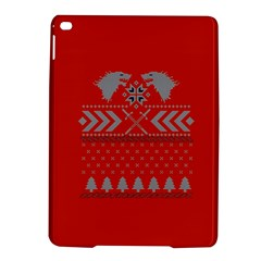 Winter Is Coming Game Of Thrones Ugly Christmas Red Background Ipad Air 2 Hardshell Cases