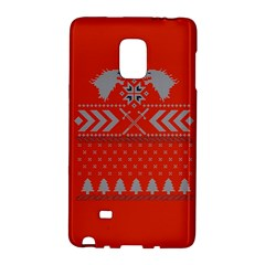 Winter Is Coming Game Of Thrones Ugly Christmas Red Background Galaxy Note Edge