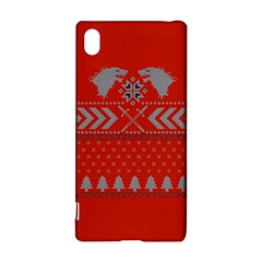 Winter Is Coming Game Of Thrones Ugly Christmas Red Background Sony Xperia Z3+