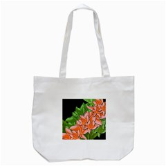 Decorative Flowers Tote Bag (white)