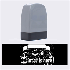 Winter Is Here Ugly Holiday Christmas Black Background Name Stamps