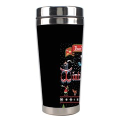 Winter Is Here Ugly Holiday Christmas Black Background Stainless Steel Travel Tumblers