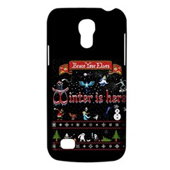 Winter Is Here Ugly Holiday Christmas Black Background Galaxy S4 Mini