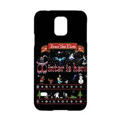 Winter Is Here Ugly Holiday Christmas Black Background Samsung Galaxy S5 Hardshell Case