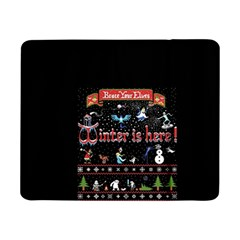 Winter Is Here Ugly Holiday Christmas Black Background Samsung Galaxy Tab Pro 8 4  Flip Case