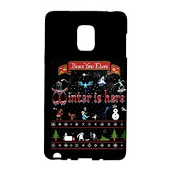 Winter Is Here Ugly Holiday Christmas Black Background Galaxy Note Edge