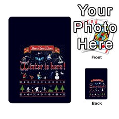 Winter Is Here Ugly Holiday Christmas Blue Background Multi Purpose Cards (rectangle)