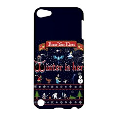 Winter Is Here Ugly Holiday Christmas Blue Background Apple Ipod Touch 5 Hardshell Case
