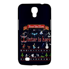 Winter Is Here Ugly Holiday Christmas Blue Background Samsung Galaxy Mega 6 3  I9200 Hardshell Case
