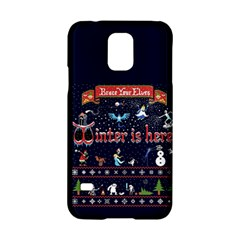 Winter Is Here Ugly Holiday Christmas Blue Background Samsung Galaxy S5 Hardshell Case