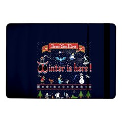 Winter Is Here Ugly Holiday Christmas Blue Background Samsung Galaxy Tab Pro 10 1  Flip Case