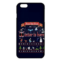 Winter Is Here Ugly Holiday Christmas Blue Background Iphone 6 Plus/6s Plus Tpu Case