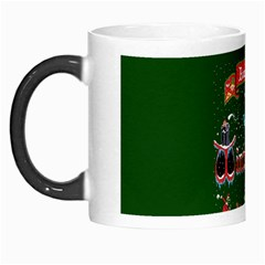 Winter Is Here Ugly Holiday Christmas Green Background Morph Mugs