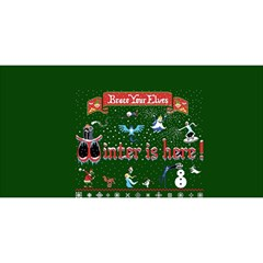 Winter Is Here Ugly Holiday Christmas Green Background You Are Invited 3d Greeting Card (8x4)