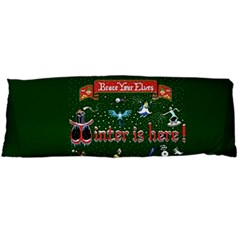 Winter Is Here Ugly Holiday Christmas Green Background Body Pillow Case Dakimakura (two Sides)