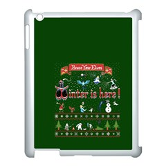 Winter Is Here Ugly Holiday Christmas Green Background Apple Ipad 3/4 Case (white)