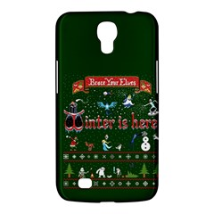 Winter Is Here Ugly Holiday Christmas Green Background Samsung Galaxy Mega 6 3  I9200 Hardshell Case