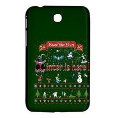 Winter Is Here Ugly Holiday Christmas Green Background Samsung Galaxy Tab 3 (7 ) P3200 Hardshell Case