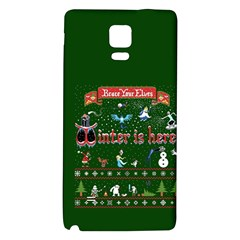 Winter Is Here Ugly Holiday Christmas Green Background Galaxy Note 4 Back Case