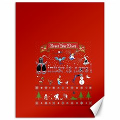 Winter Is Here Ugly Holiday Christmas Red Background Canvas 12  X 16