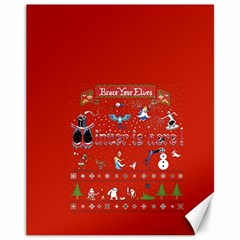 Winter Is Here Ugly Holiday Christmas Red Background Canvas 11  X 14