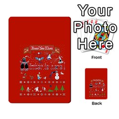 Winter Is Here Ugly Holiday Christmas Red Background Multi-purpose Cards (Rectangle)