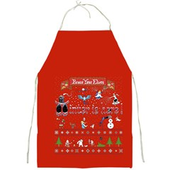 Winter Is Here Ugly Holiday Christmas Red Background Full Print Aprons