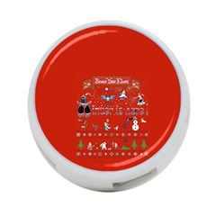 Winter Is Here Ugly Holiday Christmas Red Background 4 Port Usb Hub (one Side)