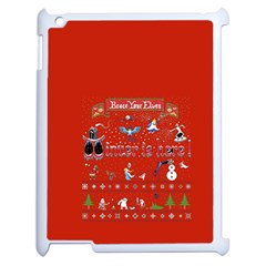 Winter Is Here Ugly Holiday Christmas Red Background Apple Ipad 2 Case (white)