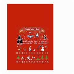 Winter Is Here Ugly Holiday Christmas Red Background Small Garden Flag (two Sides)