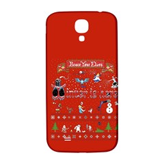 Winter Is Here Ugly Holiday Christmas Red Background Samsung Galaxy S4 I9500/i9505  Hardshell Back Case