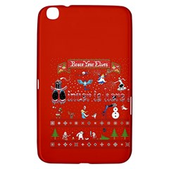 Winter Is Here Ugly Holiday Christmas Red Background Samsung Galaxy Tab 3 (8 ) T3100 Hardshell Case