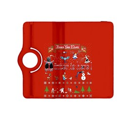 Winter Is Here Ugly Holiday Christmas Red Background Kindle Fire Hdx 8 9  Flip 360 Case
