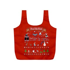 Winter Is Here Ugly Holiday Christmas Red Background Full Print Recycle Bags (s)
